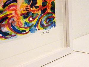 """En """"låda"""". Bilden är skild från glaset med en distanslist"""